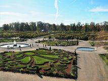 Rundale城堡公园,拉脱维亚 免版税库存图片