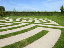 Rundale宫殿公园,拉脱维亚 图库摄影