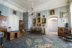 Rundale宫殿内部  在荷兰沙龙 免版税库存照片