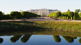 Trees reflection and castle Royalty Free Stock Image