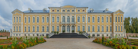RUNDALE, LATVIA - SEPTEMBER 15, 2013: The public governmental museum - Rundale palace, Latvia. was established by Russian monarch. The Rundale palace was Stock Image