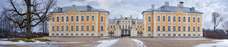 Rundale pałac, Latvia fotografia royalty free