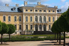 Rundale palace. Front entrance and garden Stock Photo