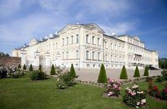 Rundale palace. Summer Residence of the Duke of Courland Ernst Johann Biron. It was built in 1740. Architect: Francesco Bartolomeo Rastrelli Royalty Free Stock Photography