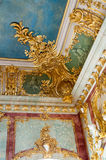 Rundale palace ceiling decor Royalty Free Stock Photos