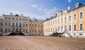 Rundale palace courtyard Royalty Free Stock Photography