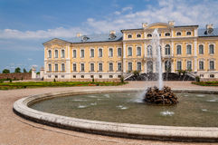 Rundale palace facade Royalty Free Stock Images