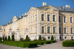 Rundale palace, former summer residence of Latvian nobility with a beautiful gardens around Royalty Free Stock Image