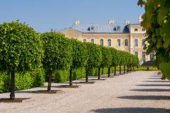 Rundale palace garden Stock Image