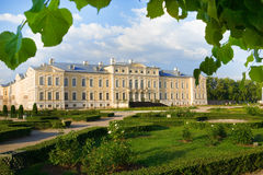 Rundale palace in Latvia. Was built in 1740. Architect: Francesco Bartolomeo Rastrelli Royalty Free Stock Photos