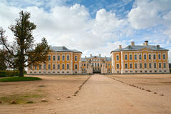 Rundale Palace, Latvia. Rundale, Latvia, Europe.The palace was built in the 1730 to design by Bartolomeo Rastrelli as a summer residence for Biron, the Duke of Royalty Free Stock Image