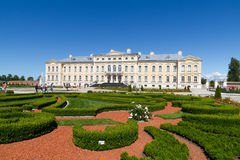 Rundale palace in Latvia Royalty Free Stock Image