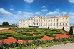 Rundale palace in Latvia Stock Photos
