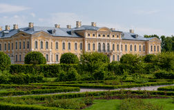 Rundale palace in Latvia Stock Photo