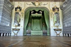 Rundale Palace Majestic Bed Room, Latvia, North Europe Royalty Free Stock Photography