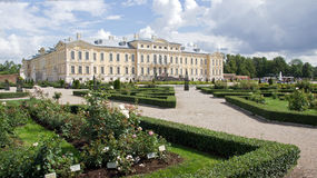 Rundale palace and museum in Latvia Royalty Free Stock Photos