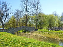 Rundale palace park, Latvia Stock Image