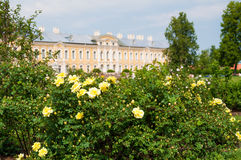 Rundale palace park in Latvia Royalty Free Stock Image