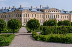 Rundale palace view Royalty Free Stock Photo