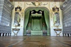 Rundale-Palast-majestätischer Bett-Raum, Lettland, Nord-Europa lizenzfreie stockfotografie