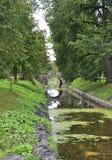 Rundale Pils, 24 augustus 2014-park van het Rundale-Paleis van Bauska in Letland Stock Fotografie