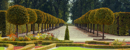 Rundale public state florist park, Latvia, Europe. The public Latvian state museum - Rundale palace and florist park were established by Russian monarch Stock Images
