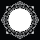 Rundan snör åt mönstrar mandala också vektor för coreldrawillustration Arkivfoton