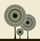 Stylized trees vektor illustrationer