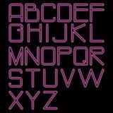 rundat alfabetneon Royaltyfria Bilder