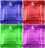rundat enkelt för cudetaljexponeringsglas Arkivbild