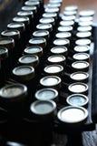 Rundat mekaniskt tangentbord royaltyfri fotografi