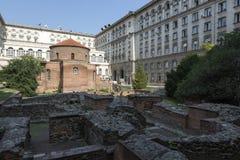 Rundbau von St George Architekturmonument von den römischen Zeiten lizenzfreie stockbilder
