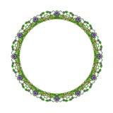 Runde Blumenverzierung auf einem weißen Hintergrund lizenzfreie stockbilder