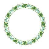 Runde Blumenverzierung auf einem weißen Hintergrund stockbild
