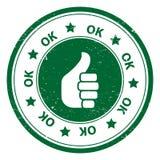 Runde Daumen Up OKAY Ikone oder Symbol Lizenzfreies Stockbild