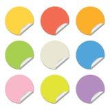 Runde farbige Aufkleber Lizenzfreies Stockfoto