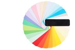 Runde Farbpalette lokalisiert Stockfotografie