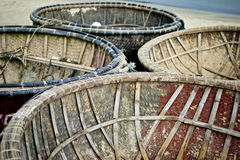 Runde Fischerboote Stockfoto