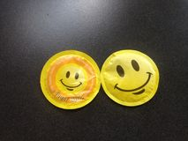 Runde geformte Kissen des SMILEY Zucker Lizenzfreies Stockbild