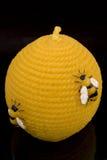Runde gelbe Kerze stockfoto