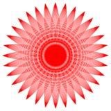 Runde Grafik mit den Blumenblättern lizenzfreie abbildung