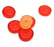 Runde gummiartige Süßigkeiten lizenzfreies stockfoto