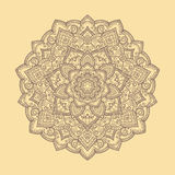 Runde Handgezeichnete boho Mandala Auch im corel abgehobenen Betrag Stockbilder