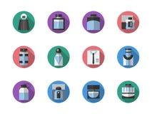 Runde Ikonen der Düfte Farbeingestellt Lizenzfreie Stockbilder