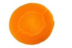 Runde Karottenscheibe auf Weiß lizenzfreies stockbild