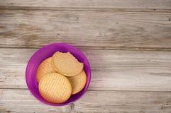 Runde Kekse des Weizens Stockfotos