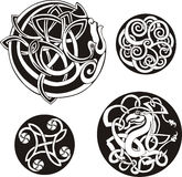 Runde keltische Knoten Stockfoto