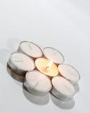 Runde Kerzenlichter vereinbart Stockbilder