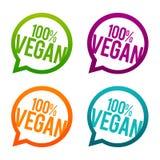 runde Knöpfe 100% des strengen Vegetariers Vektor des Kreis-Eps10 lizenzfreie abbildung