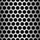 Runde Löcher des nahtlosen Musteraluminiumesprits Stockfotografie